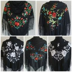 Spanish embroidered shawls.