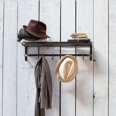 Inspired by vintage luggage racks on trains is the Farringdon Luggage Rack by Garden Trading. Crafted in steel this sturdy storage item combines a Ikea Shelves, Rustic Shelves, Wall Shelves, Rack Shelf, Storage Rack, Storage Shelves, Shelf Organizer, Shelving Ideas, Shelf Ideas