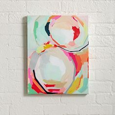 Shop He and I Wall Art. Color us happy. The beautiful and bright abstract artwork of Britt Bass has fun painted all over it.
