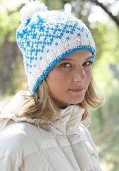 Patons Shetland Chunky - Fair Isle Ice Cap (free knitting pattern)