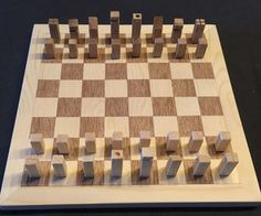 Chess Set From Wood …