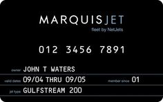 Private Jer membership card _ by Marquis Jet _
