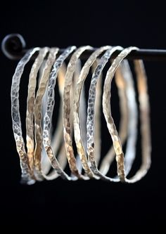 Hammered Metal Bangles