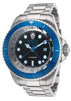 Invicta Men's Reserve Hydromax GMT Stainless Steel Black Dial - Watch 16969,    #Invicta,    #16969,    #WatchesDiverQuartz