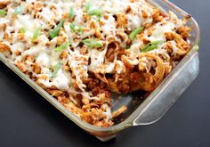 Chicken tamale casserole is so easy to whip up and so full of flavor!