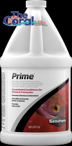 Water Tests and Treatment 77659: Seachem Prime 2-Liter Marine And Freshwater Removes Chlorine Ammonia Nitrate -> BUY IT NOW ONLY: $56.99 on eBay!
