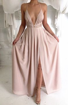 guest ..Sexy V-Neck Halter Long Evening Dress Side Slit Cheap Plus Size Summer Dresses for Women