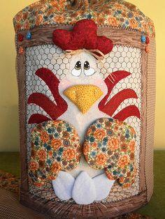 Capa de bambona galinha 3D