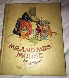 Vintage 1943 Mr. And Mrs. Mouse Book Illustrated By Ida Bohatta Morpurgo  | eBay
