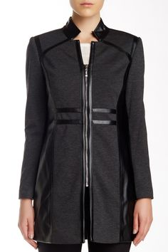 Faux Leather Trim Trench Jacket by Insight on @HauteLook