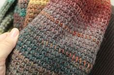 Quick Crochet Cowl Tunisian Simple Stitch - Front
