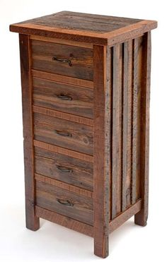 """Barnwood Heritage Lady's Chest of Drawers - 5 Drawers - Reclaimed Wood - Item # COD05424 - 27""""W x 20""""D x 54""""H - Custom Sizes Available"""