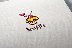 Logo Souffle pie confectionery Cake Templates Format AI, EPS. Editing font. CMYK by shaman