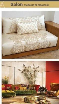 Salon marocain gris rose – Amenda decor | Salons marocains ...