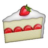 Emoji Strawberry Cake Clip Art