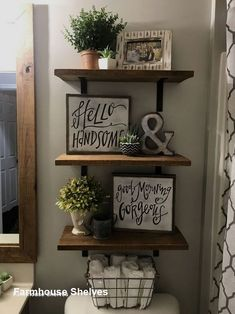 If You Read Nothing Else Today, Read This Report On Rustic Bathroom Diy Ideas Farmhouse Decor 25 - Home Professional Decoration Rustic Bathroom Decor, Bathroom Ideas, Bathroom Organization, Bathroom Storage, Organization Ideas, Bathroom Makeovers, Wall Storage, Storage Ideas, Remodel Bathroom