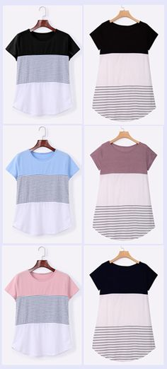 stripe pattern T-shirts