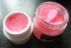 Homemade Lush lip scrub-----used peppermint, really nice