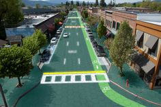 Solar Roadways Solar Roadways is a modular paving system of solar panels that can withstand the heaviest of trucks (250,000 pounds). These Solar Road Panels can be installed on roads, parking lots, driveways, sidewalks, bike paths, playgrounds... literally any surface under the sun. https://www.indiegogo.com/projects/solar-roadways