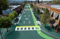 Estes painéis podem ser instalados em estradas, estacionamentos, calçadas, acostamentos, ciclovias, parques infantis – literalmente qualquer superfície sob o sol. Elas pagam por si mesmas