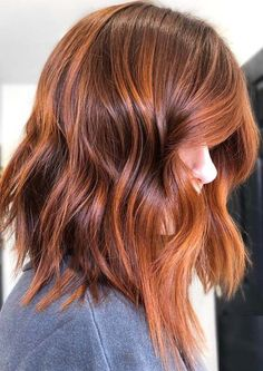 Fantastic Copper Red Hair Color Shades You Must Try in 2019 Searching for best hair colors to make y Red Copper Hair Color, Gold Hair Colors, Cool Hair Color, Copper Rose Gold Hair, Ombre Hair, Balayage Hair, Brown Balayage, Light Blond, Hair Color Shades
