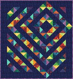 Four Patch Charm designed by Tamarack Shack. Features Artisan Batiks: Retro Metro by Lunn Studios, shipping to stores December 2017. Charm square friendly. FREE pattern available for download December 2017 (robertkaufman.com) #FREEatrobertkaufmandotcom #artisanbatiks