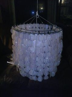 Wax Paper Chandelier This One Looks Like Its Made From A Wire Wreath Frame