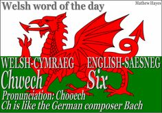 Welsh word of the day: Chwech/Six