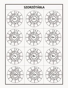 Multiplication Times Tables Worksheets – 6 & 7 Times Tables – Six Worksheets / FREE Printable Worksheets Maths Times Tables, Times Tables Worksheets, Math Tables, Free Printable Worksheets, Kindergarten Worksheets, Preschool Kindergarten, Maths Worksheets For Kids, Kindergarten Addition, 5th Grade Worksheets