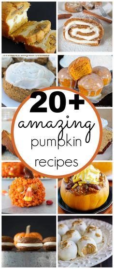 20+ amazing pumpkin recipes