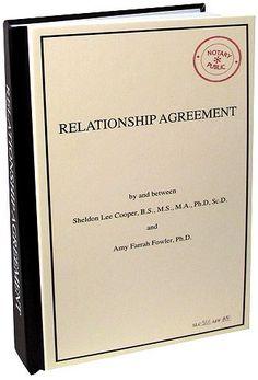 Big Bang Theory Relationship Agreement Journal - http://geekarmory.com/the-big-bang-theory-relationship-agreement-journal/