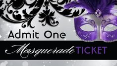 Customizable Masquerade Admission Tickets Designed By Colourful Designs Inc Pack Of 100 For 2790