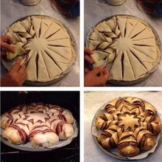 """""""Fiocco di neve"""" con pasta sfoglia e nutella! #delish#dessert#nutella#sweet"""