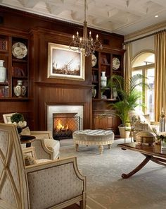 Classic Elegant Living Room Interior Design of Old Palm Golf Club by Rogers Design Group - Traditional Style - Living Room Classic Living Room, Elegant Living Room, New Living Room, Interior Design Living Room, Living Room Designs, Cozy Living, Home Design, Küchen Design, Design Ideas