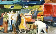 Panagiotis Tetsis (b. Art Amour, Art Du Collage, Greece Painting, Video Artist, Blues Artists, Z Arts, Post Impressionism, Greek Art, Art Database
