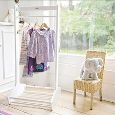 White Clothes Rail | JoJo Maman Bebe