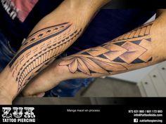 Manga maorí en proceso.