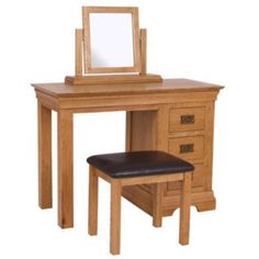 Loire Farmhouse Solid Oak Bedside Table - 2 Drawer | Furniture123
