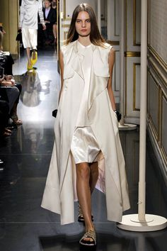 Celine Spring 2013 ready-to-wear ivory coat, top, and skirt
