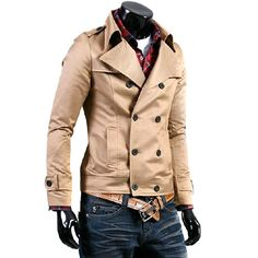 Men's Double Breasted Short Jacket, love this for Xavier. Looks Style, Looks Cool, My Style, Mode Masculine, Sharp Dressed Man, Well Dressed Men, Pinterest For Men, Double Breasted Jacket, Outfit