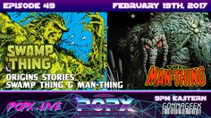 """In this """"Origin Stories"""" special, we unravel the mysteries of both Marvel and DC Comic's creatures of the swamp, and which one came first. We talk about thei. Geek Culture, Pop Culture, First They Came, Super Powers, Live Life, Science Fiction, Dc Comics, Mystery, Swamp Thing"""