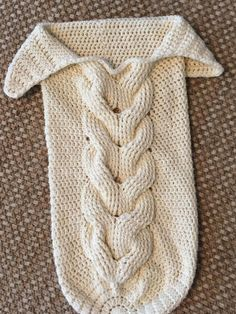 Cuddly Crochet Cable Baby Cocoon | Make this beautiful baby cocoon for the newest arrival in your family!