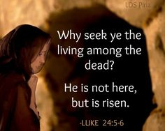 He is not here but is risen ~~I Love Jesus Christ