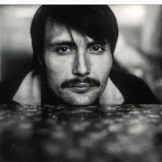 Mads Mikkelsen ~ Portrait by Helena Christensen (665 Polaroid) during the Filming of the movie