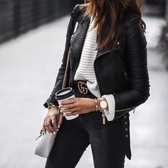 When in doubt, add a leather jacket.