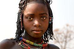 Africa   Young girl from the Muhacaona ( Mucawana) tribe - Angola   © Johan Gerrits