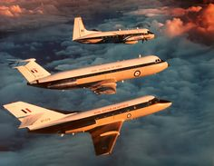 RAAF Number 34 Squadron Dassault Mystere 20, BAC-111 and HS748 in the 1980's