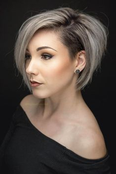 62 Best Inspirational Gorgeous Short Hairstyles For Fine Hair 2019 - Page 7 of 62 - Diaror Diary Bob Hairstyles For Fine Hair, Braids For Short Hair, Haircuts For Long Hair, Short Hairstyles For Women, Short Hair Cuts, Short Hair Styles, Undercut Hairstyles, Black Hairstyles, Pixie Haircuts