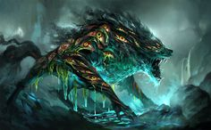 """Demon/monster art - """"/tg/ - Traditional Games"""" is imageboard for discussing traditional gaming, such as board games and tabletop RPGs. Dark Fantasy Art, Fantasy Magic, Fantasy Wolf, Fantasy Beasts, Fantasy Kunst, Fantasy Artwork, Monster Concept Art, Monster Art, Creature Concept Art"""
