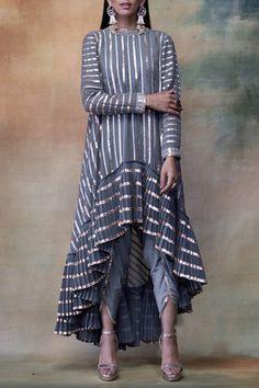 Buy Embroidered Dhoti Kurta Set by Vvani by Vani Vats at Aza Fashions Party Wear Indian Dresses, Designer Party Wear Dresses, Kurti Designs Party Wear, Dress Indian Style, Indian Designer Outfits, Indian Outfits, Designer Kurtas For Women, Stylish Dress Designs, Stylish Dresses